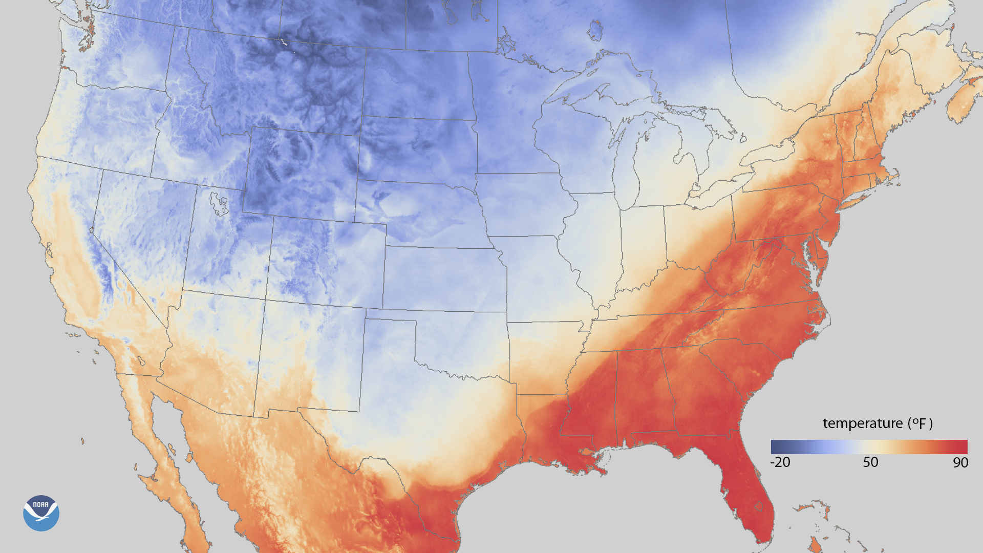 Record February warmth in the eastern United States
