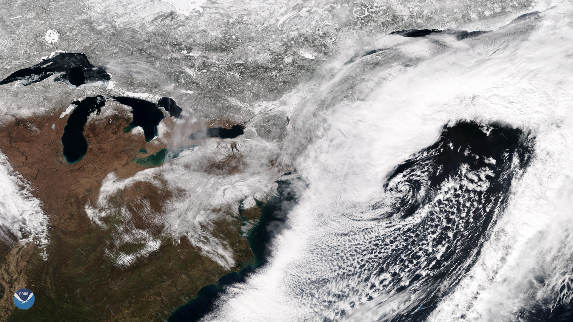 Fourth March Nor'easter Departs the East Coast