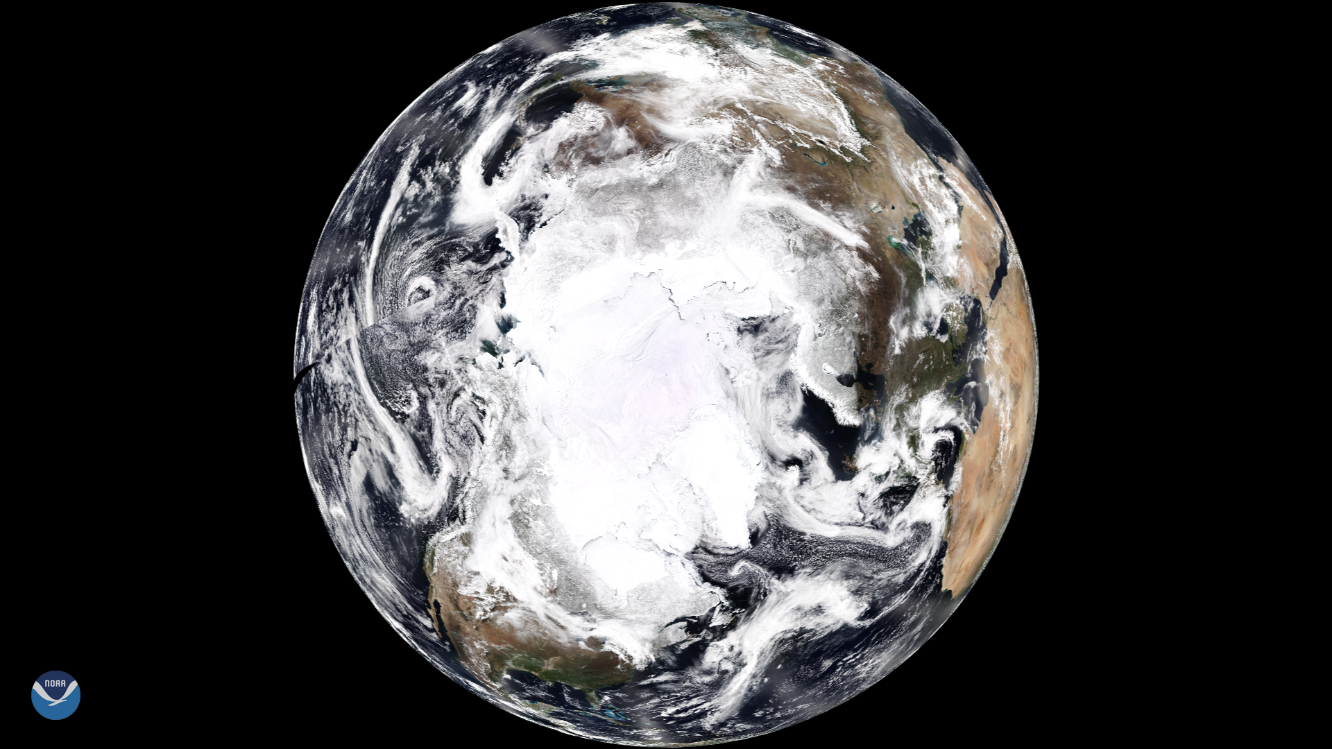 NOAA-20 Shares New View of the North Pole for Earth Day
