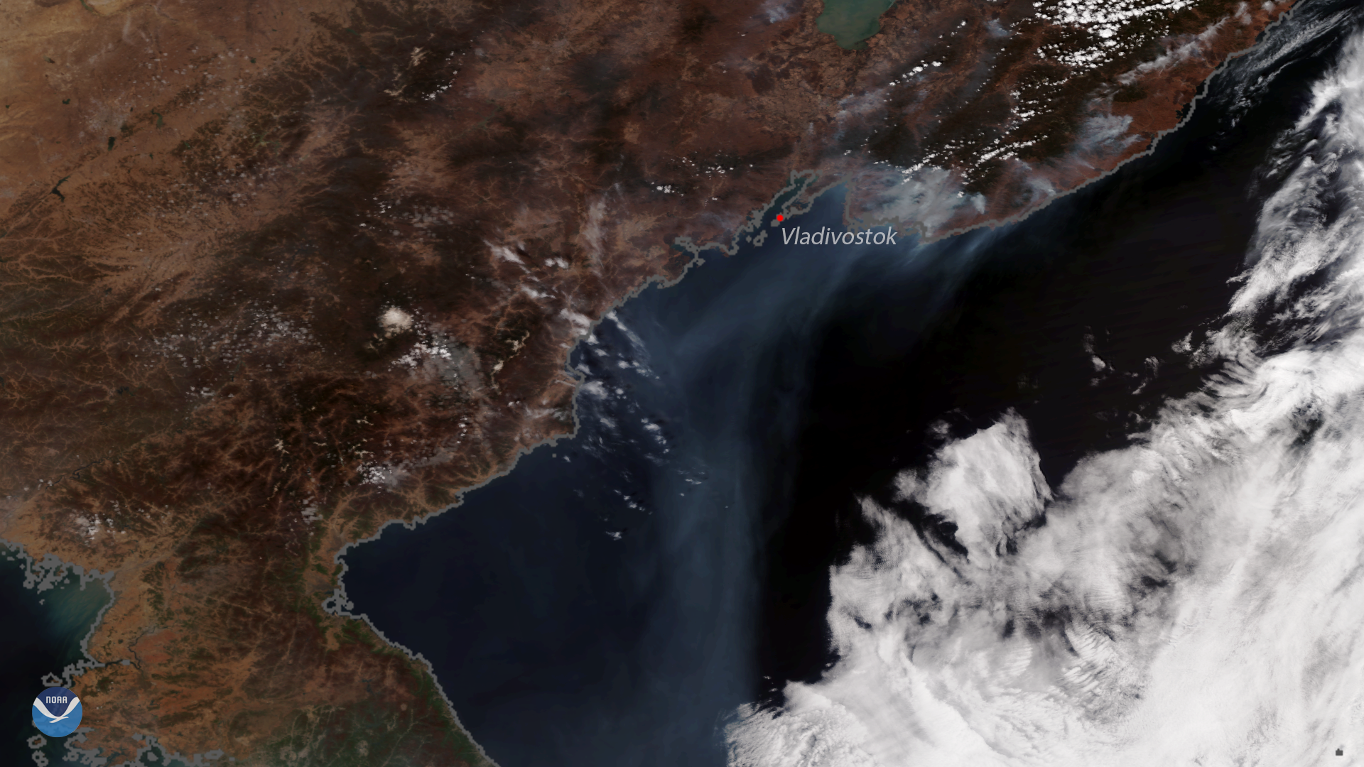 NOAA-20 Sees Fires Burning in Eastern Russia