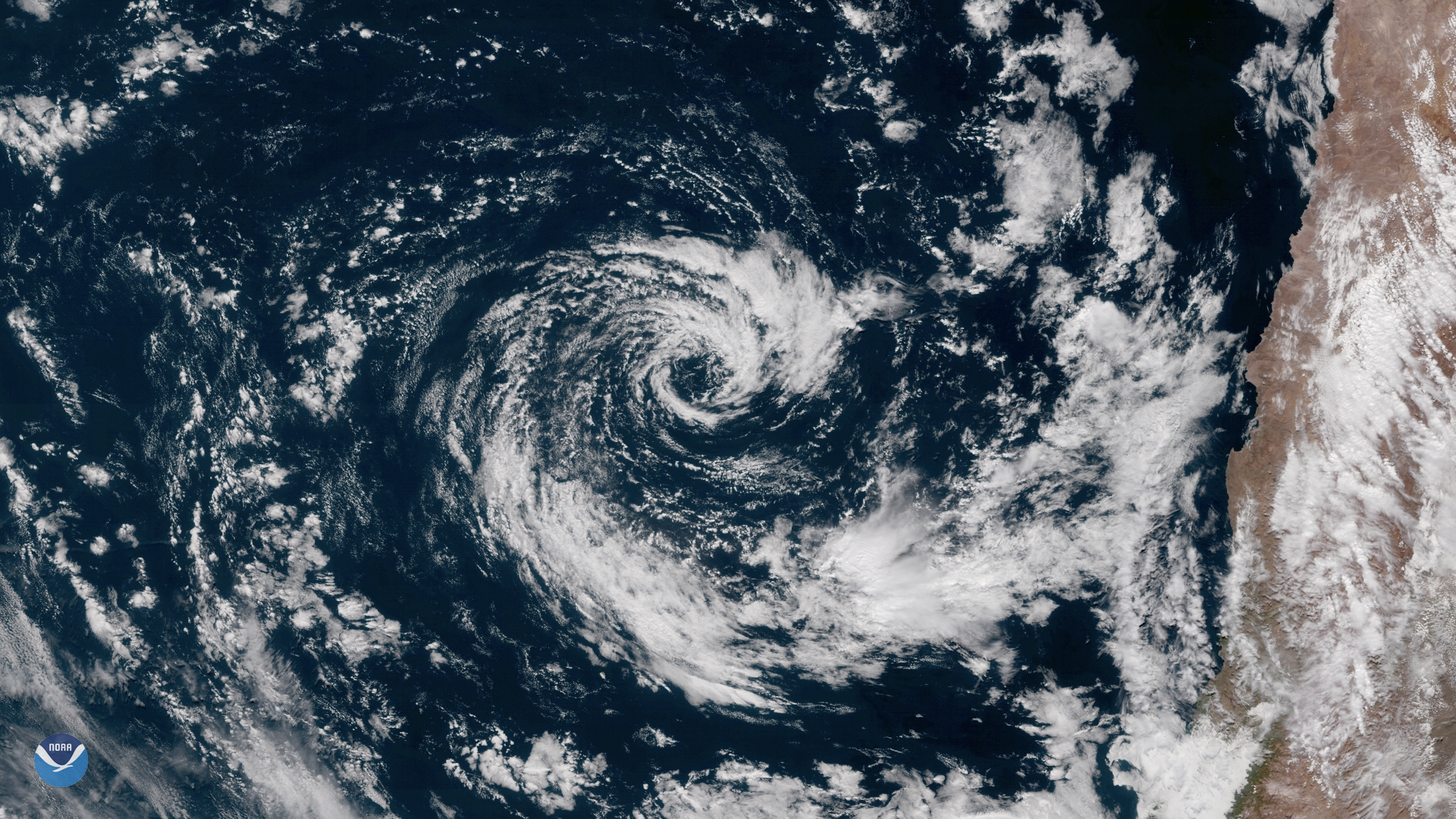 Rare Subtropical Storm off the Coast of Chile