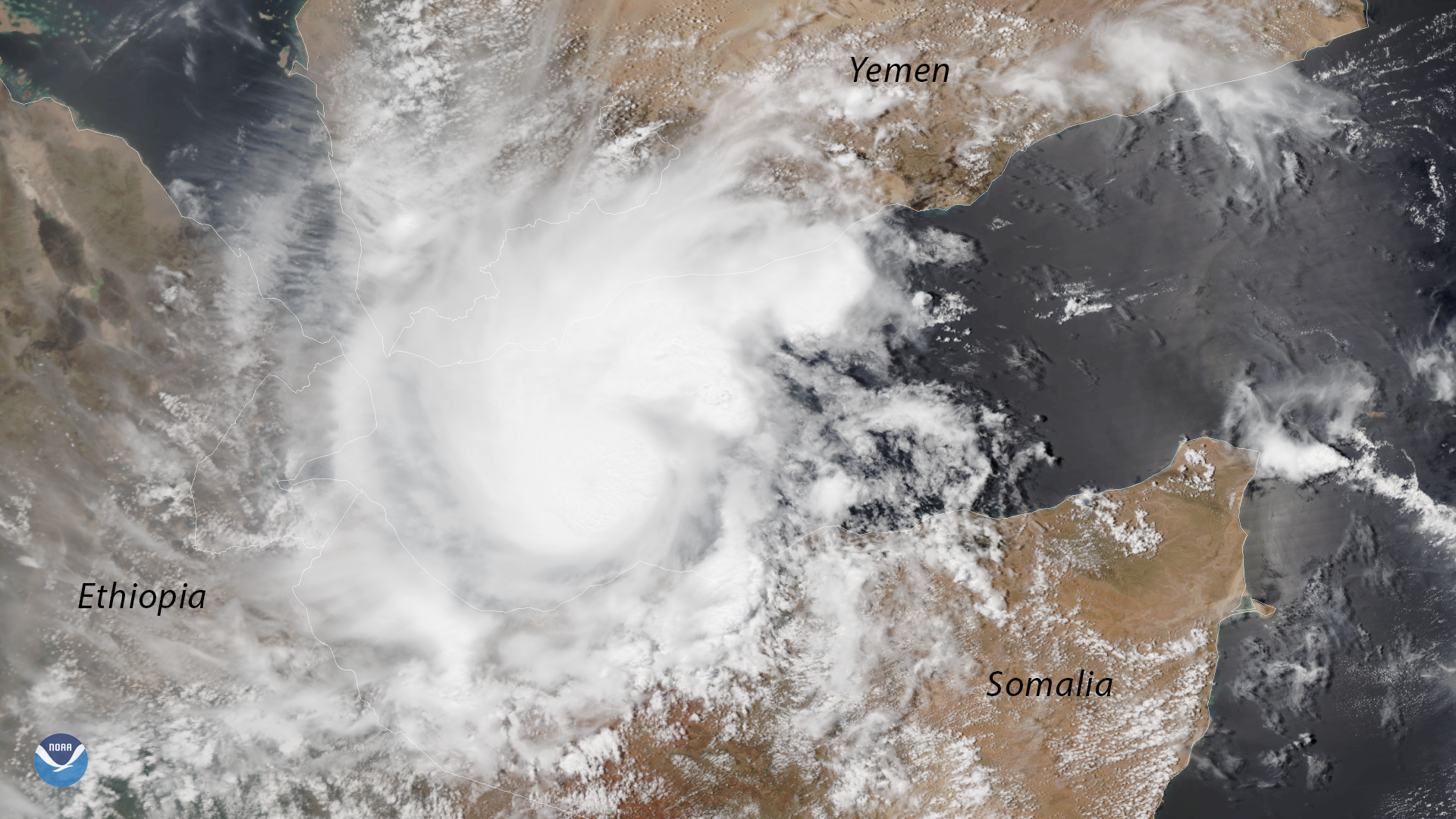 Rare Tropical Cyclone in the Gulf of Aden