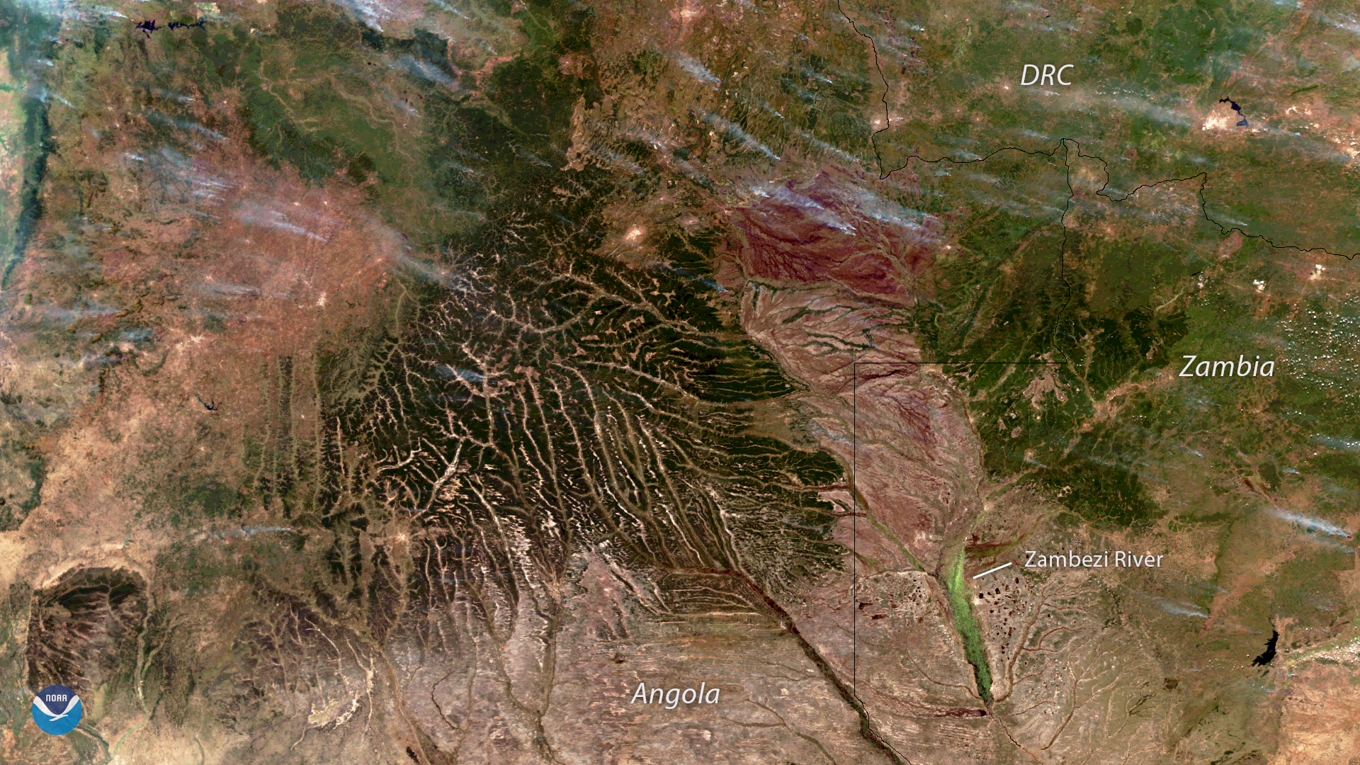 Fires Dot the Landscape in Sub-Saharan Africa