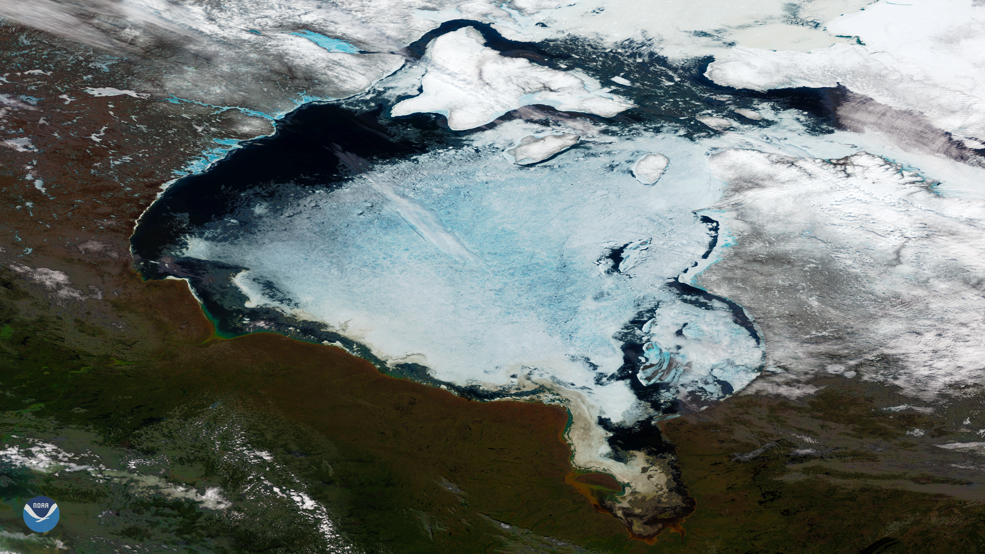 Hudson Bay Com.Ice Breakup On The Hudson Bay Noaa National Environmental