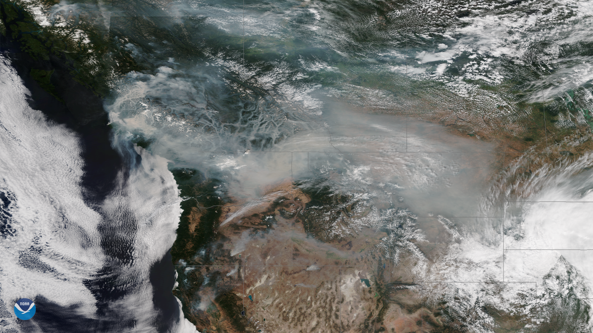 Wildfires and Smoky Skies Continue in Western North America