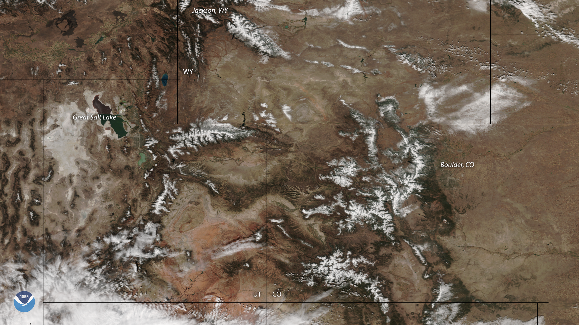 Snow Blankets Portions of Colorado and Wyoming