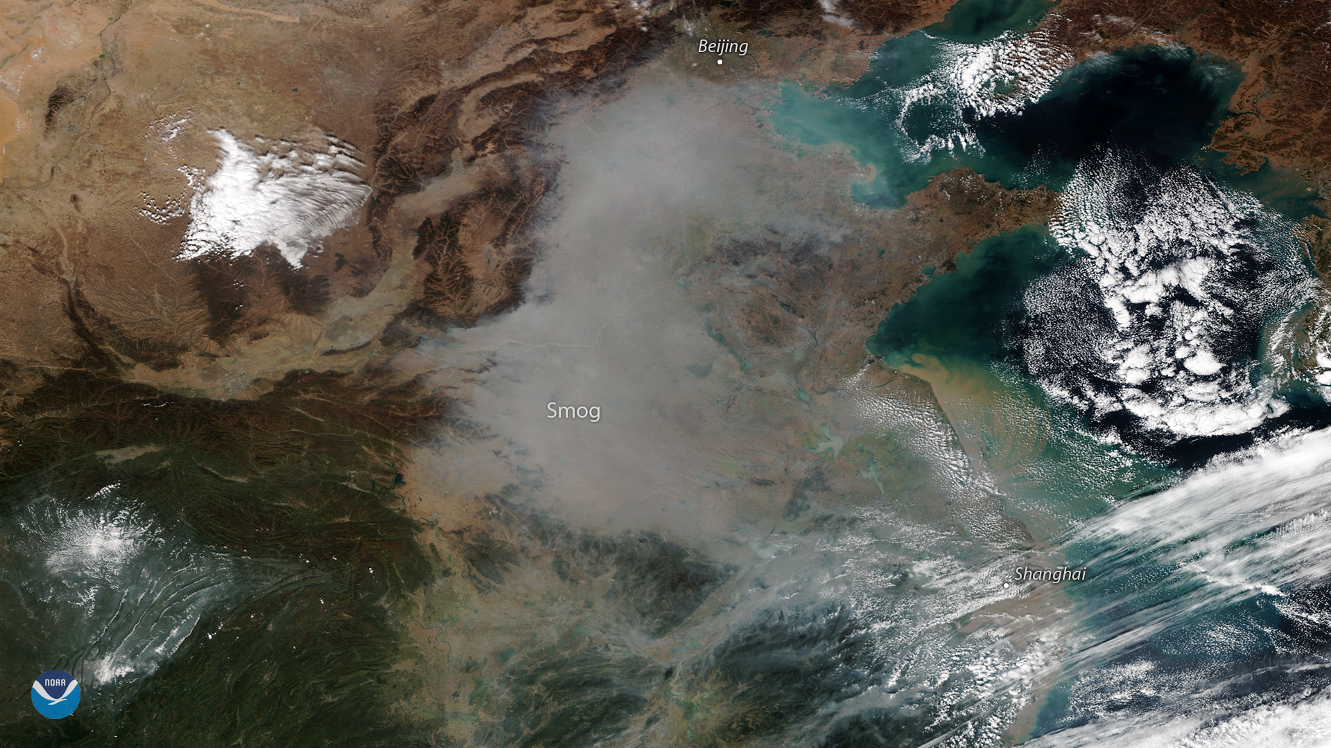 A Plume of Pollution in Northeastern China