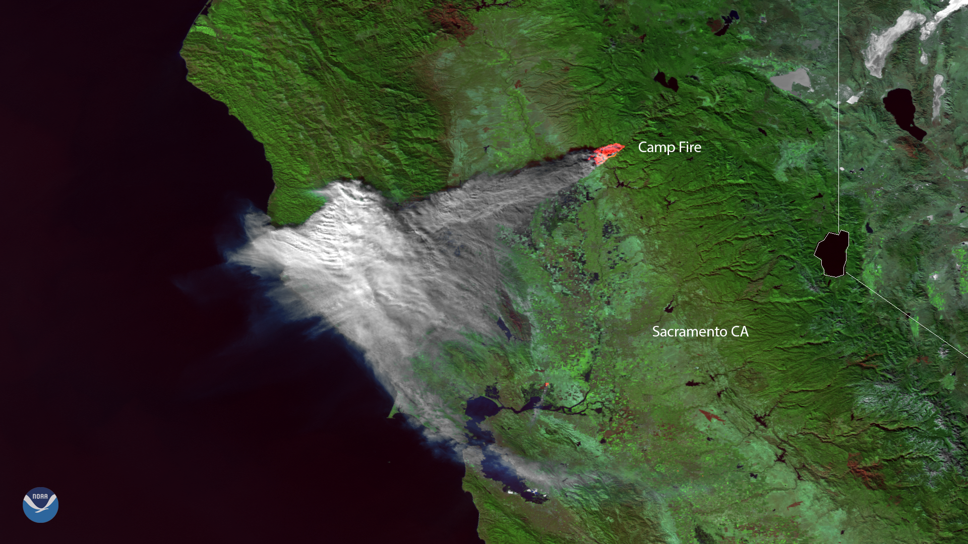 Plumes of Smoke Cover Portions of Northern California