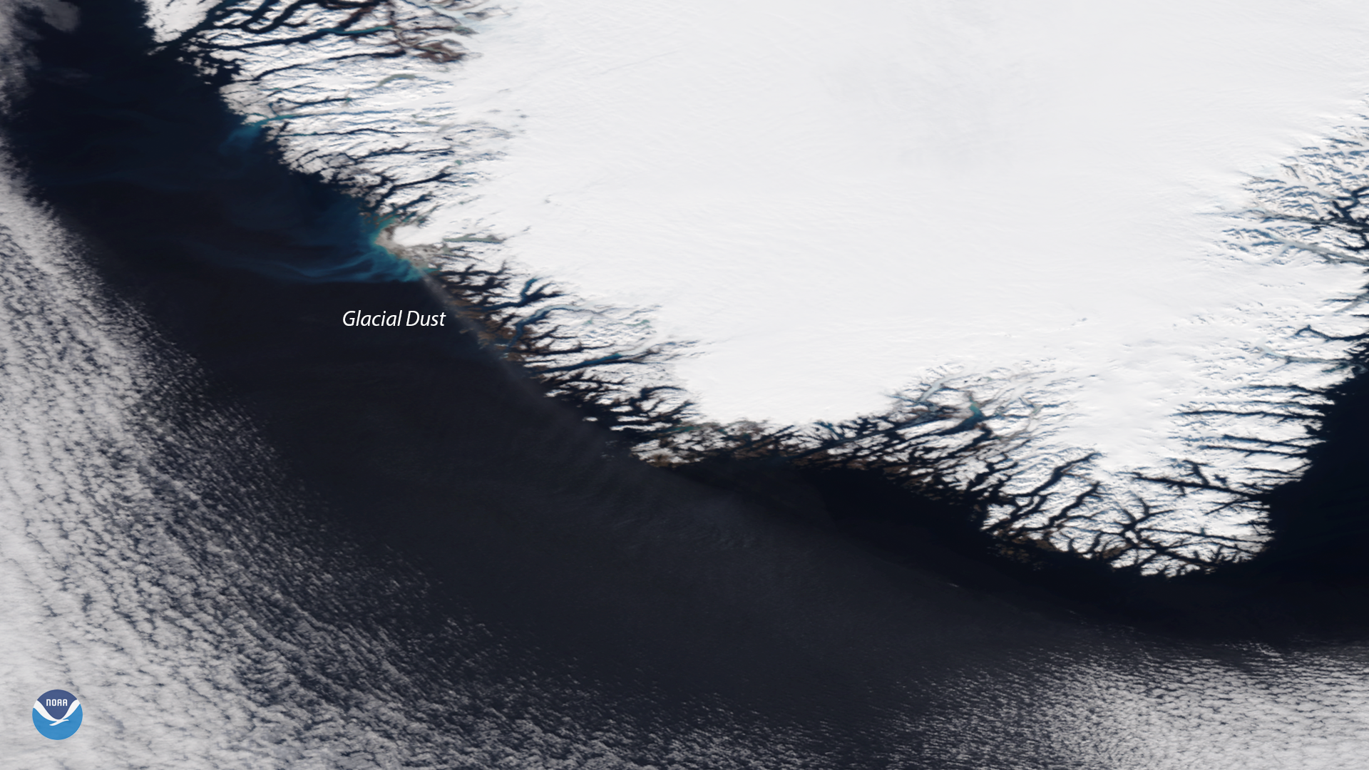 Glacial Dust Spotted Off the Coast of Greenland