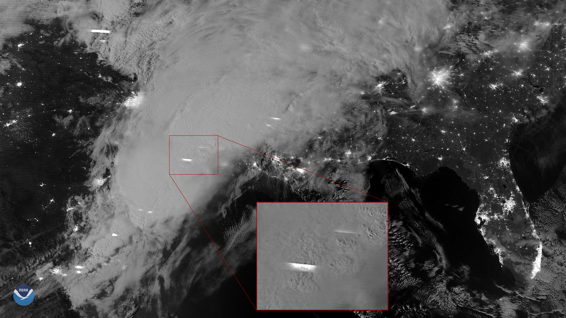 NOAA-20 Captures Nighttime Imagery of Storms in the South