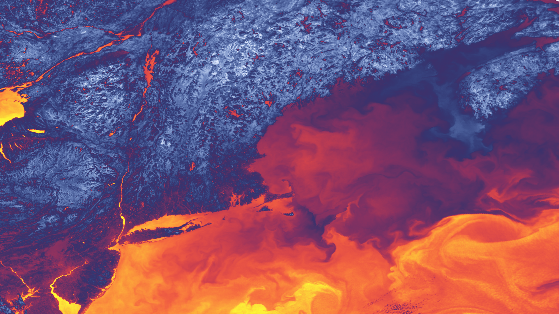 Thermal Satellite Imagery Shows Variations in the Northeast U.S.